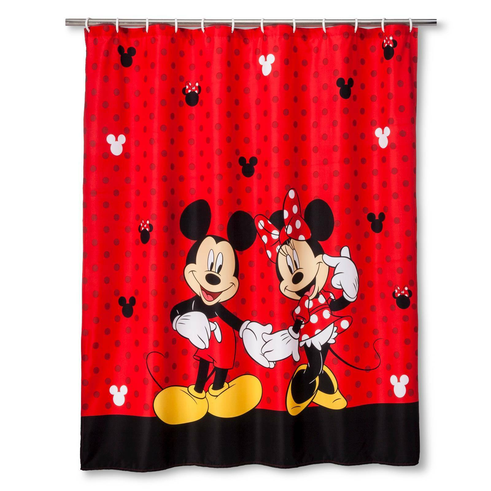 Disney Mickey And Minnie 70 X 72 Fabric Shower Curtain For Sale
