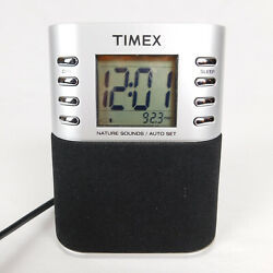 Timex Clock Radio AM/FM Nature Sounds MP3 in-line Digital Battery back-up T307S