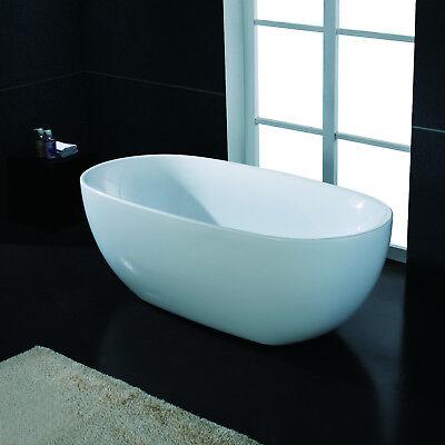 "67"" Modern White Acrylic Freestanding Spa Bathtub"