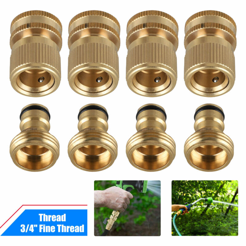 Garden Hose Quick Connect Solid Brass Quick Connector Garden Hose Fitting 3/4