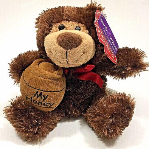"6"" Stuffed Brown Plush Bear "" My Honey Jar""-March Of Dimes-ShipFree"