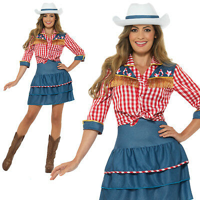 Rodeo Doll Costume Cowgirl Adult Womens Ladies Wild West Fancy Dress Outfit - Cowgirl Outfits