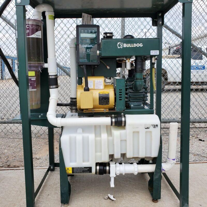 RamVac Bulldog QT 2 Dental Dry-Vacuum System / S2 Electric Controls / Otter Tank