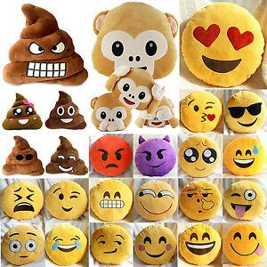 caca emoji singe dr le coussins maison sofa d cor oreiller jet peluche ebay. Black Bedroom Furniture Sets. Home Design Ideas