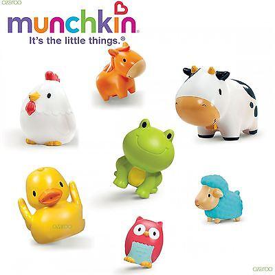 Munchkin Baby Squirtin Barnyard Friends, with Farmyard Animals For Bath-time Fun