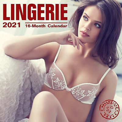 2021 Lingerie 12 x 12 Wall Calendar Hot Sexy Pinup Girls Underwear