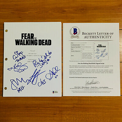 FEAR THE WALKING DEAD SIGNED PILOT SCRIPT BY x6 CAST ALYCIA DEBNAM CAREY w/ COA