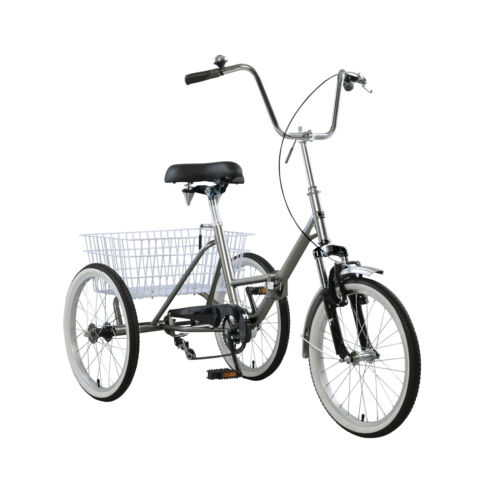 Adult Folding Tricycle Bike 3 Wheeler Bicycle Portable Tricy