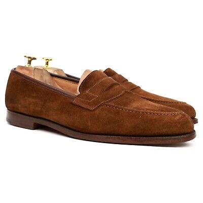 Crockett & Jones X Shipton & Heneage 'Wilton' Brown Suede Loafers UK 11.5 EX