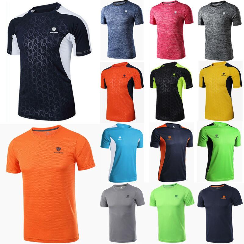 Herren Funktions T-Shirt Trainings Kurzarm Shirt Fitness Sport Muskelshirt Tops