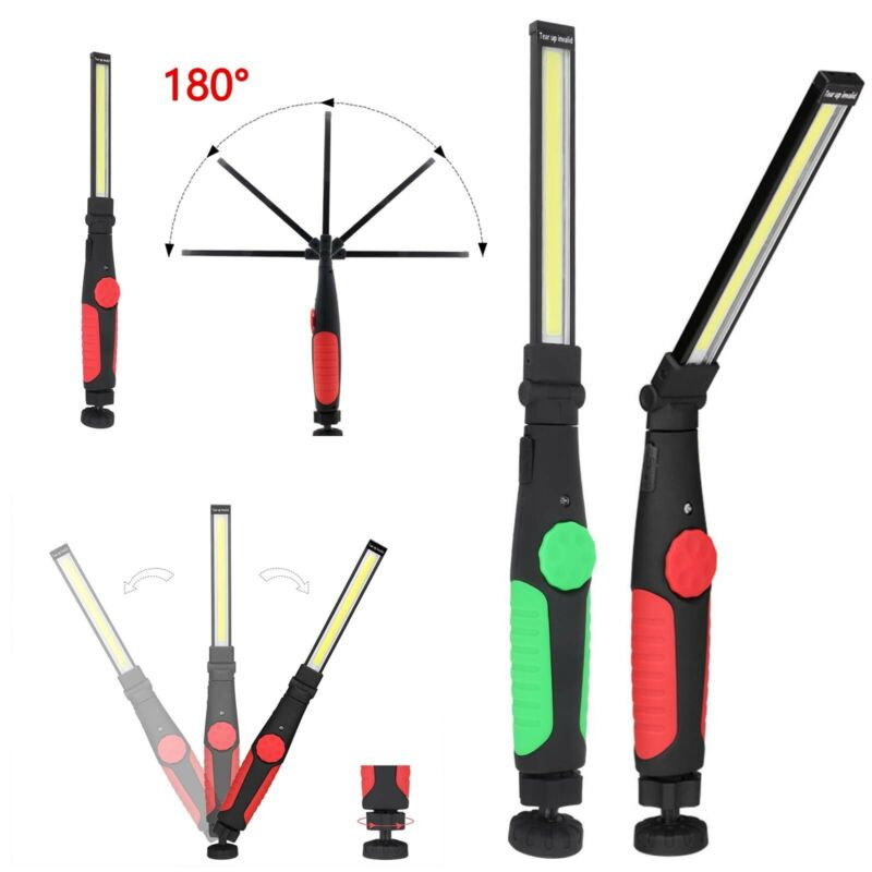 COB LED Magnetic WorkLight Rechargeable Inspection Flexible Cordless Torch V1F6