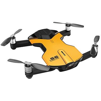 Black Friday! Factory Refurbished! Wingsland S6 Outdoor 4K Pocket Drone Yellow