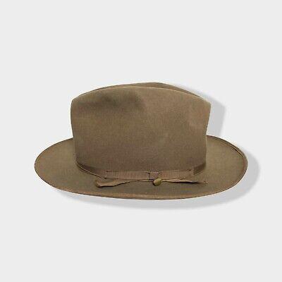 1950s Mens Hats | 50s Vintage Men's Hats Vtg 1950s DOBBS Westward Fedora 6 7/8 western hat Open Road STRATOLINER cowboy $84.99 AT vintagedancer.com