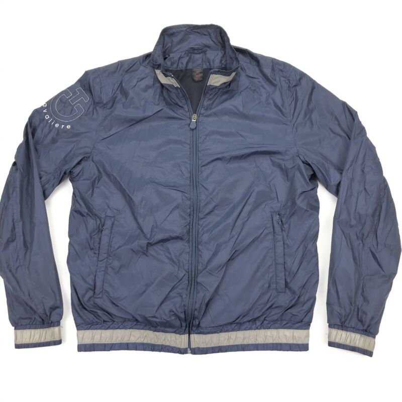 Cavalleria Toscana Mens Equestrian Bomber Riding Windbreaker Jacket Blue • Large
