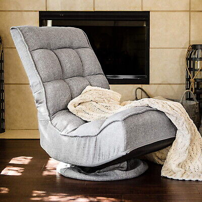 Swivel Folding Floor Gaming Chair Adjustable Cushioned Home Office Gamer Seat