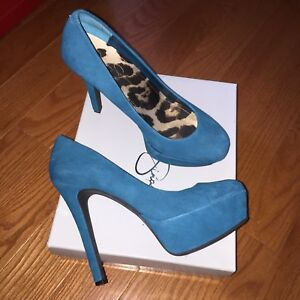Jessica Simpson - Women Shoes/High Heels (Teal) - Size 9.5