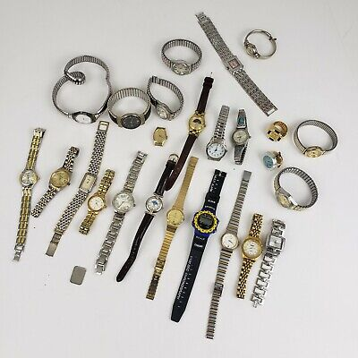 Vintage Lot Of 25 Pieces - Womens & Mens Watches - Timex , Gruen Etc