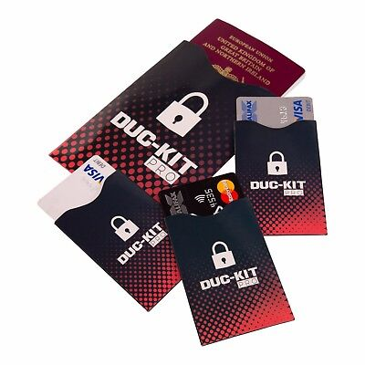 RFID Blocker Sleeves for Passports & Credit Cards - FREE UK Delivery