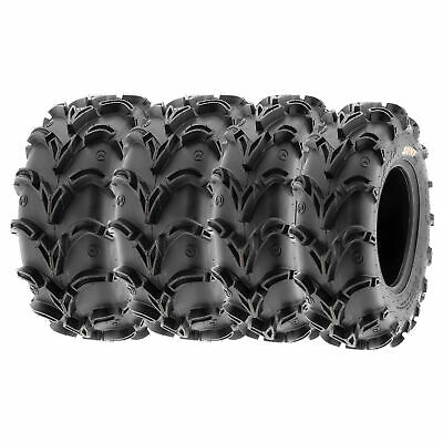 SunF 25x8-12 25x10-12  All Terrain ATV UTV A/T Mud Tires 6 PR   A050 [Bundle]