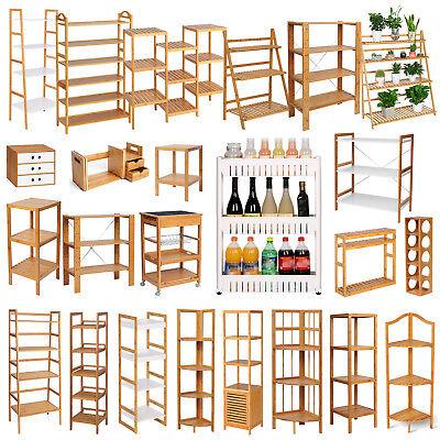 Bambus Standregal Badregal Blumentreppe Küchenregal CD Bücher Holzregal #602
