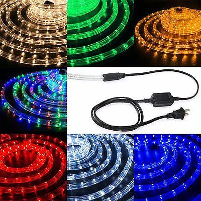"LED Rope Light 1/2"" Thick Christmas Lighting Stripes XMAS 10"