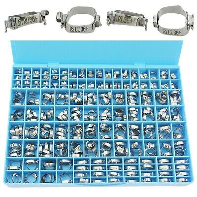 340 Pc Orthodontic Molar Bands 022 Mbt Lingual Sheath Double Tube Convertible 3m