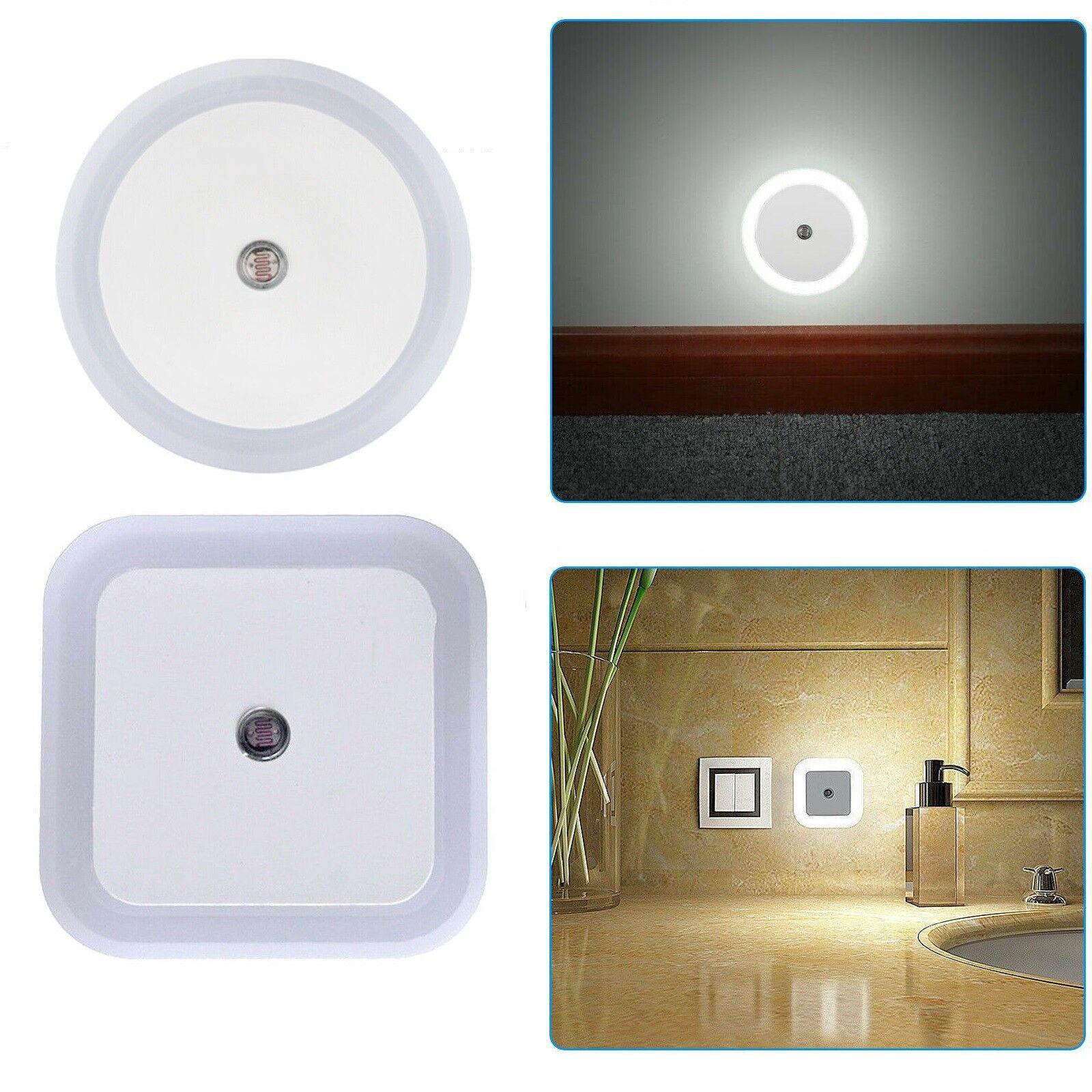 Plug-In LED Night Light Lamp with Ambient Light Sensor Dusk to Dawn Sensor 0.5W Home & Garden