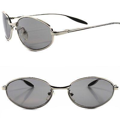 Slick Design High Quality Sporty Stylish Elegant Mens Silver Oval (High Quality Designer Sunglasses)