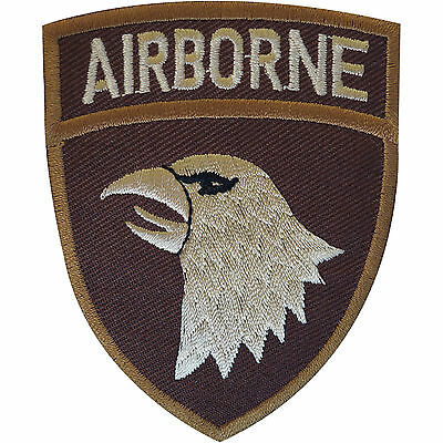 Iron / Sew On United States Army Airborne Patch Badge Ranger Soldier Paratrooper