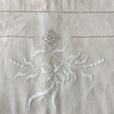 Vintage French Linen Nightdress Monogrammed /'BH/'