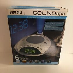 HoMedics SS-4000 Sound Spa Classic Deluxe Clock Radio & Sound Machine with Time