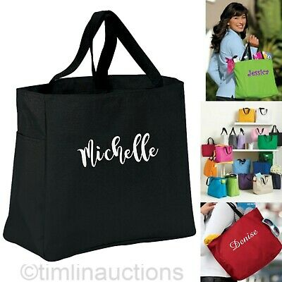 Personalized Bridesmaid Gift Tote Bags Bridal Shower Wedding Party Monogram](Wedding Tote Bags)