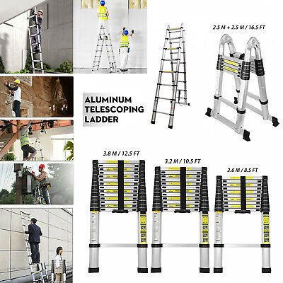 8.510.512.516.5 Ft Telescoping Ladder Telescopic Extension Extendable Step