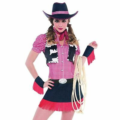 Ladies Rodeo Dolly Costume Cowgirl Western Fancy Dress Womens Wild West Outfit - Rodeo Outfits For Women
