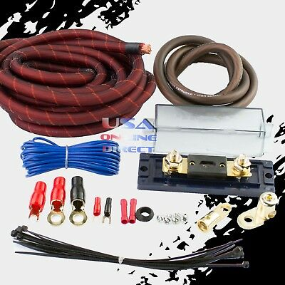 4 GAUGE AWG 100% OFC SNAKESKIN COPPER POWER AMP KIT AMPLIFIER WIRING INSTALL 4 Awg Power Amplifier
