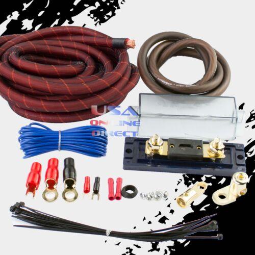 4 GAUGE AWG 100% OFC SNAKESKIN COPPER POWER AMP KIT AMPLIFIER WIRING INSTALL
