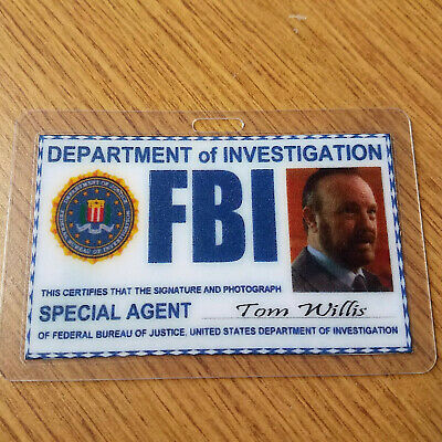 Supernatural ID Badge-Special Agent Tom Willisr costume cosplay - Special Agent Costume