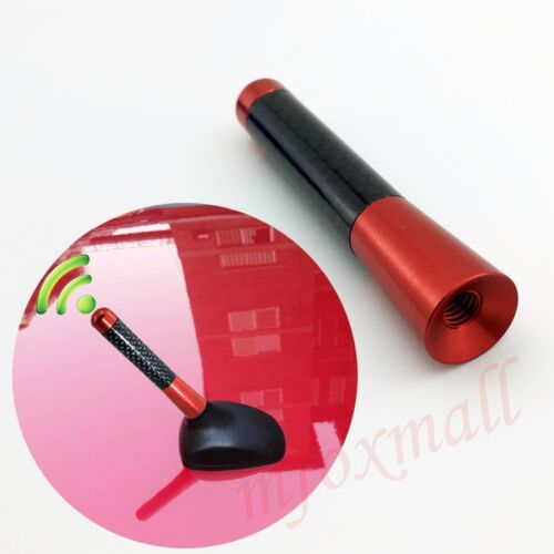 Black+Red Car Parts Roof Aerial Antenna AM FM Radio Amplifier Signal Mast Trim