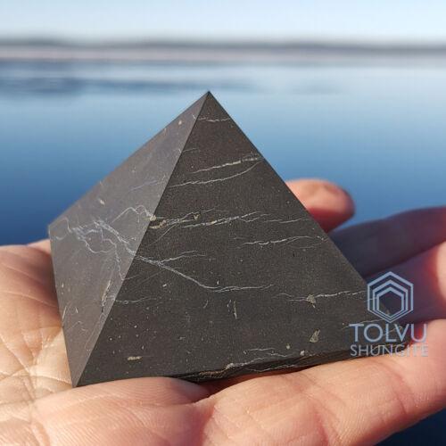Big Shungite Pyramid 1.97 inches / 5cm Natural Stone from Karelia, Tolvu