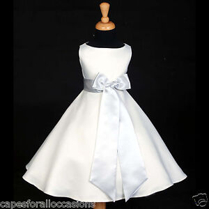 WHITE-A-LINE-T-LENGTH-WEDDING-FLOWER-GIRL-DRESS-12M-18M-2-3T-4-5T-6-7-8-10-12-14