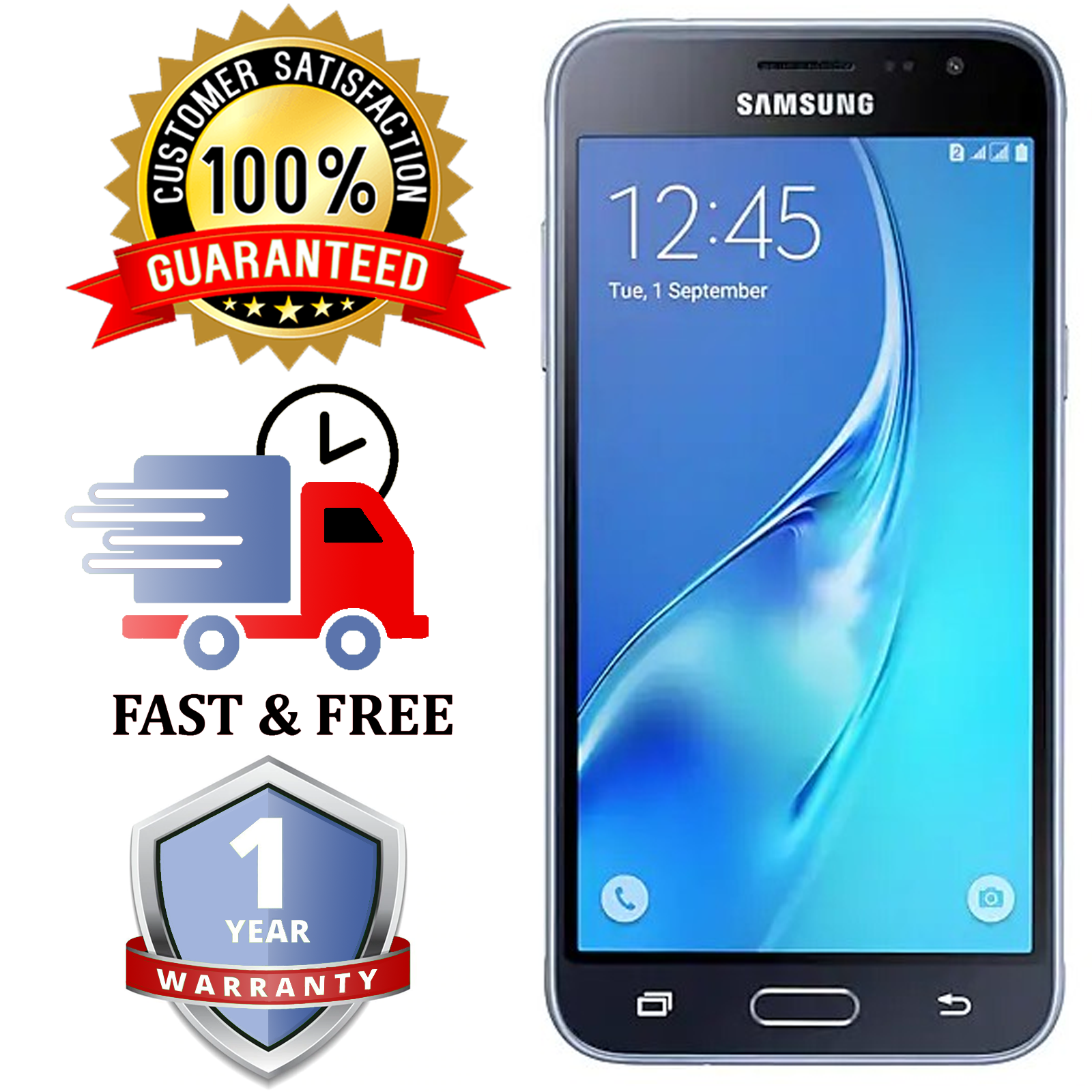 Android Phone - SAMSUNG PHONE GALAXY J3 2016-Black 8GB Android Mobile Phone |Unlocked |SIM FREE