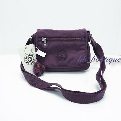 NWT Kipling AC8280 Sabian Crossbody Mini Shoulder Bag Poly Purple Verbena Tonal
