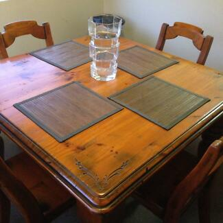 Solid 4 Seater Dining Table Croydon Burwood Area Preview