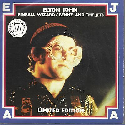 """Elton John Pinball Wizard UK 45 7"""" single +Picture Sleeve +Benny And The Jets"""