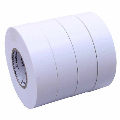 4 Rolls White Electrical Insulating Tape Vinyl 34 Inch 20 Yards Ul Listed
