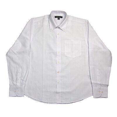 Men's White Oxford Shirt Long Sleeve Galaxy School Uniform Sizes S to XL