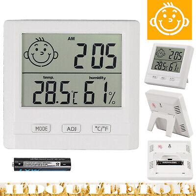 Digital Thermometer Hygrometer Luftfeuchtigkeit Temperatur Innen Alarm Uhr Funk