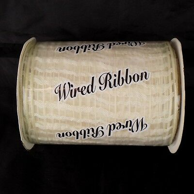 Ivory Mesh Ribbon Wired 5