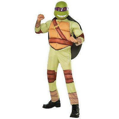 Boys Teenage Mutant Ninja Turtles Donatello 3 Piece Deluxe Costume Small 4-6