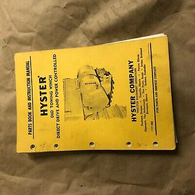 Hyster Winch Parts Catalog Instruction Manual D6d Cat Dozer Nice